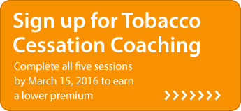 Sign up for Tobacco Cessation Coaching